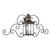 Quorum 7044-3-86 Magnolia 3 Light 22 inch Oiled Bronze Outdoor Wall Lantern