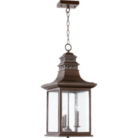 Quorum 7045-3-86 Magnolia 3 Light 11 inch Oiled Bronze Outdoor Hanging Lantern