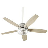 Quorum 7052-265 Breeze 52 inch Satin Nickel with Silver and Weathered Gray Blades Ceiling Fan Quorum Home