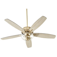 Quorum 7052-280 Breeze 52 inch Aged Brass with Matte Black and Weathered Oak Blades Ceiling Fan Quorum Home