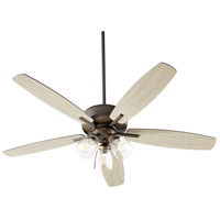 Quorum 7052-386 Breeze 52 inch Oiled Bronze with Oiled Bronze and Weathered Oak Blades Ceiling Fan Quorum Home