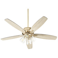 Quorum 7052-480 Breeze 52 inch Aged Brass with Matte Black and Weathered Oak Blades Ceiling Fan Quorum Home