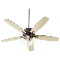 Quorum 7052-486 Breeze 52 inch Oiled Bronze with Oiled Bronze and Weathered Oak Blades Ceiling Fan Quorum Home