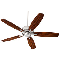 Quorum 7052-65 Breeze 52 inch Satin Nickel with Satin Nickel/Walnut Blades Indoor Ceiling Fan