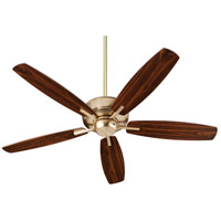 Quorum 7052-80 Breeze 52 inch Aged Brass with Dark Oak/Walnut Blades Indoor Ceiling Fan