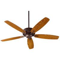 Quorum 7052-86 Breeze 52 inch Oiled Bronze with Dark Oak/Walnut Blades Indoor Ceiling Fan