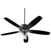 Quorum 70525-369 Breeze 52 inch Noir with Reversible Matte Black/Walnut Blades Ceiling Fan