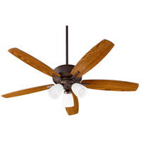 Quorum 70525-386 Breeze 52 inch Oiled Bronze with Dark Oak/Walnut Blades Indoor Ceiling Fan