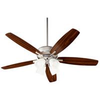 Quorum 70525-465 Breeze 52 inch Satin Nickel with Satin Nickel/Walnut Blades Indoor Ceiling Fan