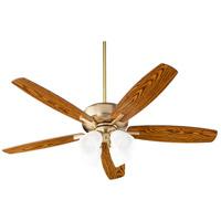 Quorum 70525-480 Breeze 52 inch Aged Brass with Dark Oak/Walnut Blades Indoor Ceiling Fan