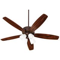 Quorum 70525-486 Breeze 52 inch Oiled Bronze with Dark Oak/Walnut Blades Indoor Ceiling Fan