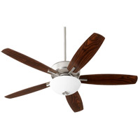 Quorum 70525-65 Breeze 52 inch Satin Nickel with Dark Oak/Walnut Blades Indoor Ceiling Fan