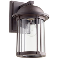 Signature 1 Light 13 inch Oiled Bronze Outdoor Wall Lantern, Quorum Home