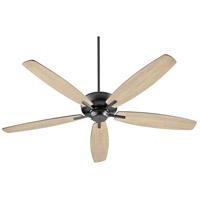 Quorum 7060-69 Breeze 60 inch Noir with Matte Black/Weathered Oak Blades Ceiling Fan