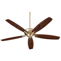 Quorum 7060-80 Breeze 60 inch Aged Brass with Dark Oak/Walnut Blades Ceiling Fan