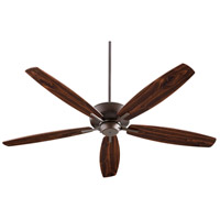 Quorum 7060-86 Breeze 60 inch Oiled Bronze with Dark Oak/Walnut Blades Ceiling Fan
