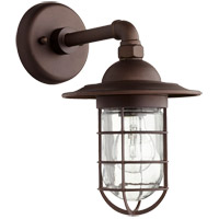 Quorum 7082-86 Bowery 1 Light 8 inch Oiled Bronze Wall Sconce Wall Light