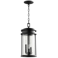 Hadley 3 Light 8 inch Noir Outdoor Pendant
