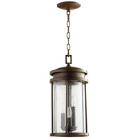 Hadley 3 Light 8 inch Oiled Bronze Outdoor Pendant