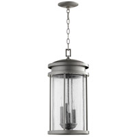 Quorum 7111-4-3 Hadley 4 Light 10 inch Graphite Outdoor Pendant