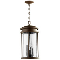 Quorum 7111-4-86 Hadley 4 Light 10 inch Oiled Bronze Outdoor Pendant