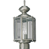 Quorum International Signature 1 Light Post Lantern in Satin Nickel 714-65