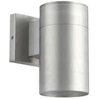 Quorum 720-16 Cylinder 1 Light 7 inch Brushed Aluminum Outdoor Wall Mount