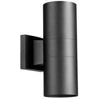 Quorum 720-2-69 Cylinder 2 Light 12 inch Noir Outdoor Wall Lantern