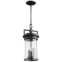 Quorum 7216-3-69 Dimas 3 Light 8 inch Noir Outdoor Pendant