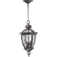 Quorum International Sloane 3 Light Outdoor Hanging Lantern in Baltic Granite 7222-3-45