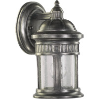 Quorum International Presidio 1 Light Outdoor Wall Lantern in Silver Noir 7225-1-91