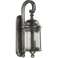 Quorum International Presidio 3 Light Outdoor Wall Lantern in Silver Noir 7225-3-91