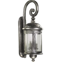 Quorum International Presidio 6 Light Outdoor Wall Lantern in Silver Noir 7225-6-91