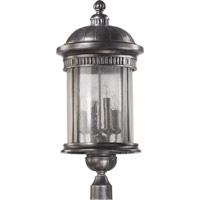 Quorum International Presidio 6 Light Post Lantern in Silver Noir 7226-6-91