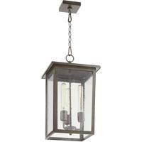 Quorum 723-11-37 Riverside 3 Light 11 inch Weathered Zinc Outdoor Pendant