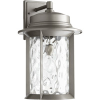 Quorum 7246-11-3 Charter 1 Light 19 inch Graphite Outdoor Wall Lantern