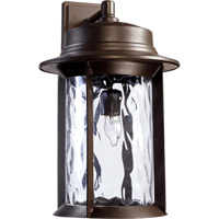 Quorum 7246-11-86 Charter 1 Light 19 inch Oiled Bronze Outdoor Wall Lantern