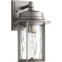 Quorum 7246-7-3 Charter 1 Light 14 inch Graphite Outdoor Wall Lantern