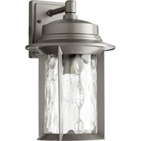 Quorum 7246-9-3 Charter 1 Light 16 inch Graphite Outdoor Wall Lantern