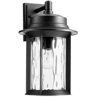 Quorum 7246-9-69 Charter 16 inch Noir Outdoor Wall Lantern, Clear Hammered