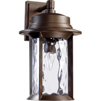 Quorum 7246-9-86 Charter 1 Light 16 inch Oiled Bronze Outdoor Wall Lantern