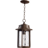 Quorum 7247-9-86 Charter 1 Light 10 inch Oiled Bronze Outdoor Hanging Lantern