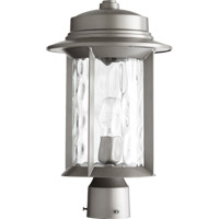 Quorum 7248-9-3 Charter 1 Light 17 inch Graphite Post Lantern