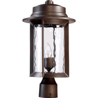 Quorum 7248-9-86 Charter 1 Light 17 inch Oiled Bronze Post Lantern