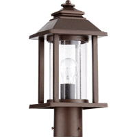 Crusoe 1 Light 16 inch Oiled Bronze Post Lantern