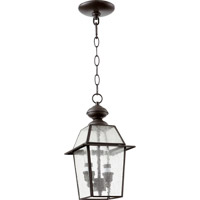 Duvall 2 Light 7 inch Bronze Pendant Ceiling Light in Clear Seeded