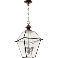 Duvall 4 Light 12 inch Bronze Pendant Ceiling Light in Clear Seeded