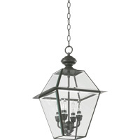 Duvall 4 Light 21 inch Bronze Outdoor Wall Lantern in Clear