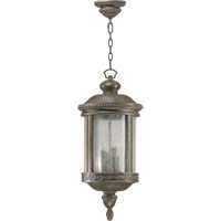 Quorum International Dauphine 4 Light Outdoor Hanging Lantern in Etruscan Sienna 7281-4-43