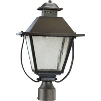 Quorum International Orleans 1 Light Post Lantern in Oiled Bronze 7302-11-86